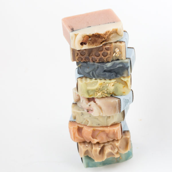 Three handcrafted soap bars