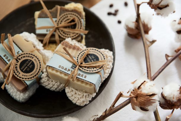 Washcloth & soap bar gift set