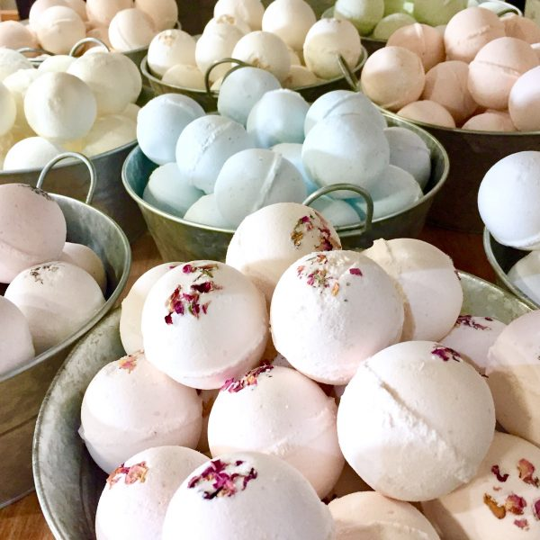 Five assorted bath bombs